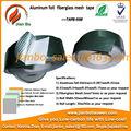 Papel de aluminio de la fibra de vidrio cinta de malla de tuberías con cinta aislante de aluminio