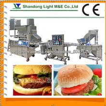 Carne de vacuno de carne de pollo arroz eléctrica fabricante automático de prensa hamburguesa