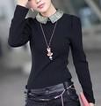 coreano ropa de mujer de algodón que brillan en la oscuridad collar con cierre de cremallera en la parte posterior