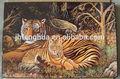 tigerabstractimagen de dibujo de la pintura de laca