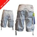 ( #tg509s) 2014 de moda de carga bolsillos con solapa de carga de diseño de pantalones cortos para hombre