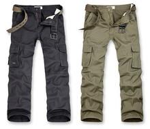 Hombres de moda multi- bolsillo pantalones