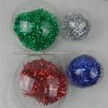 Plástico 8cm bola colgante decoración de la Navidad
