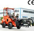 máquinas agrícolas dy840 pequeno trator carregador da extremidade dianteira com retro escavadora mini