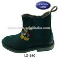 couro do plutônio superior botas de cowboy curto botas de crianças