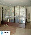 de alta calidad de vidrio estampado templado la fábrica con la certificación iso ccc del ce