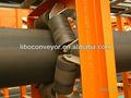 la tubería de la cinta transportadora