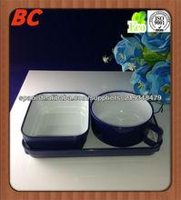 azul mango de plástico cubiertos vaso de plástico