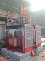 1000Kg Twin jaula SC200 construcción mástil elevador para la construcción