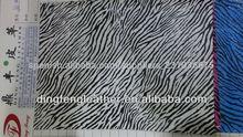 popual zebra impreso de cuero del pvc para hangbag