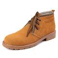 bajo costo de alta del cuello largo zapatos de cuero para los hombres