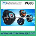 GPS wifi bluetooth FM 1.3MP cámara de pantalla táctil reloj teléfono GSM