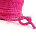 chino 3mm magenta rosa de nylon trenzado de cuerda para la fabricación de joyas