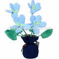 4 main gros Heads Arrangement de charbon de bambou Fleur
