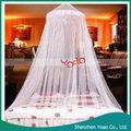 cordón elegante cama con dosel mosquito net blanco