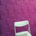 fibra de planta material decorativo de la pared de ladrillo