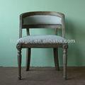 nuevo diseño de estilo rústico de madera sólido marco de estilo francés de sillas de comedor