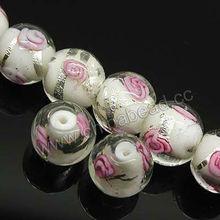 Hermosas perlas de cristal de murano 12mm mano de encantos
