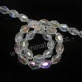 calidad al por mayor los granos cristalinos tallados ovales de alta cuentas de cristal claros