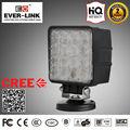 IP67 CE Rohs aprobado solo alta intensidad LED Cree 10-30V DC luz de trabajo para el carro