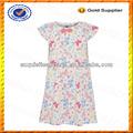 Personalizado 100% de algodón niños vestidos de flores/niños impresión de larga vestidos de playa al por mayor