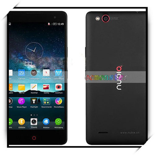 Para zte de nubia z7 max 2gb+32gb qualcomm snapdragon 801 5.5 pulgadas android teléfono inteligente negro