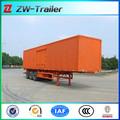 Tri- cerrados eje caja de carga semi remolque para la venta, caja o camiones van semi-remolque