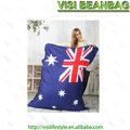 impresión de la unión jack pelotita, australia bandera del bolso de haba, la bolsa de frijol balancín de surtidor