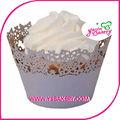 los copos de nieve torta de la taza de envoltura