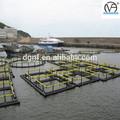 polietileno de alta densidad de la acuicultura cuadrado para la jaula de pescado hecha de tubos de pe