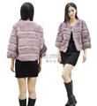 Nouveau style de mode cx-g-a-195b réelle des femmes manteau de fourrure de lapin peau de lapin
