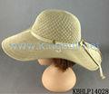 De punto de poliéster sombrero de ala ancha con jacquard patrón
