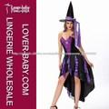 de lujo araña de hechizante de encaje de tul para adultos de color púrpura de hadas traje de halloween