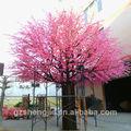 grande outdor flor artificial de pêssego decoração da árvore de grandes árvores de plástico