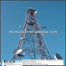 galvanizado de telecomunicaciones gsm de acero de tres patas de la torre