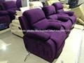 Sofá reclinable eléctrico en cuero/mejor sillón reclinable silla/niño perezoso sofá reclinable ls8008