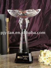 Elegante taza de cristal, campeón de la copa de cristal trofeo