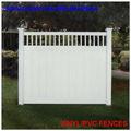 pvc esgrima privacidade com top de vinil malha de cercas de jardim de plástico de privacidade cerca de casa