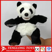 cute panda juguetes animal de la felpa marioneta de mano para baby