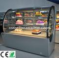 pastel de frutas frigorífico escaparate con cristal curvo