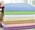 """Baja precio de la tela cvc 50/50 40*40 140*90 105"""" reactiva teñido satinado tela de la raya para el hotel sábana"""