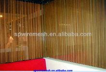 Sceen chimenea, de metal de la bobina de cortinas, cortinas para el hotel