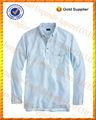 100% de algodón de manga larga de split dobladillo de última moda diseños de camisetas para hombres