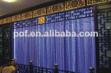 2014 de alta moda de cascada de fibra óptica de luz de la cortina