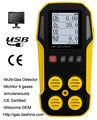 Certificado CE 4 en 1 Detector de Gas para el CH4, CO, O2, H2S