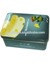 fofo metal queijo caixas de lata de atacado em chinês