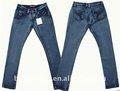 bajo la cintura apretado de la pierna de la mujer jeans de marca barata