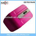Recién 2.4g inalámbrico rojo de fibra óptica del ratón touchpad