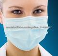 Médicos desechables máscara de la cara, 3 capas de máscara de la cara con el lazo del oído