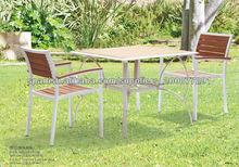 PS Mesa de té de madera y sillas conjunto WS-026